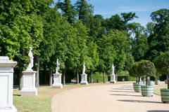 Garden in front of New Palace Royalty Free Stock Images