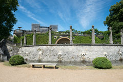 Garden in front of Orangery Palace Royalty Free Stock Image