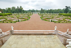 Garden in front of Palace in Oranienbaum Stock Photos