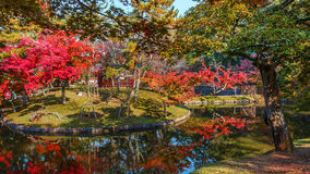 Garden in front of Todaiji Temple in Nara Royalty Free Stock Images
