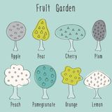 Garden fruit trees Royalty Free Stock Photo