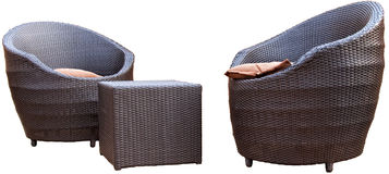 Garden furniture. Made of rattan Stock Images