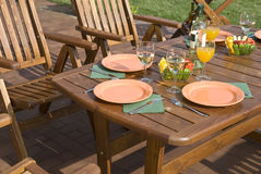 Garden furniture. The Garden furniture by the pool Royalty Free Stock Photo