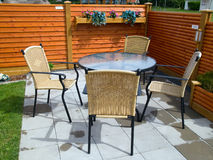 Garden furniture Stock Photography