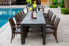 The Garden furniture Stock Photography