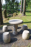 Garden Furniture. Chinese garden furniture of stone table and stools Stock Image