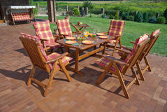 Garden furniture Royalty Free Stock Photo