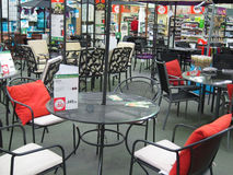 Garden furniture in a large store. Stock Image