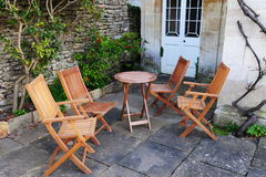Garden Furniture on a Patio Stock Photos