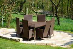 Garden furniture of rattan Royalty Free Stock Photo