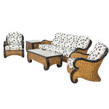 Garden furniture set. On a white Stock Photos