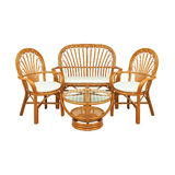 Garden furniture set. On a white Royalty Free Stock Photos