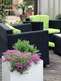 Garden furniture on terrace or balcony Stock Photos