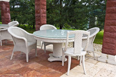 Garden furniture. Royalty Free Stock Photo