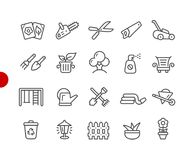 Garden and Gardening Icons // Red Point Series