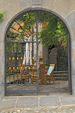 Garden gate. Typical garden gate of spain, europe royalty free stock photography