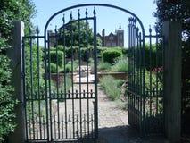 Garden Gate. Arched Garden Gate secret-garden stately-home royalty free stock image