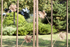 Garden gate background Stock Photo