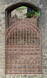 A garden gate at belmont house on bequia Royalty Free Stock Image
