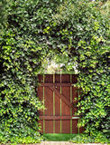 Garden gate with ivy archway Stock Photos