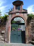 Garden Gate. Ornate garden gate in the city of Rome in Italy Stock Images