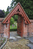 Garden Gate. And pathway, Christchurch, New Zealand stock photo