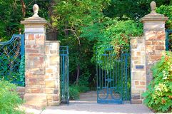 Garden gates. With pathway Stock Images