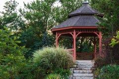Garden gazebo. Secluded garden gazebo in Portage, Wisconsin Royalty Free Stock Image