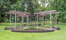 Garden Gazebo. Simple garden gazebo, Foster Botanical Gardens, Honolulu, Hawaii Stock Photography