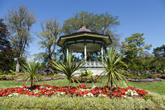 Garden Gazebo Up Hill Royalty Free Stock Photography