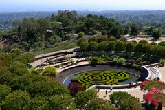 Garden at the Getty Center Stock Image