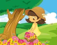 Garden girl Royalty Free Stock Photography