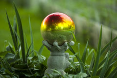 Garden Globe. With growing plants Stock Photography