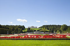 Garden and the gloriette in the schonbrunn palace Royalty Free Stock Photo