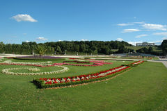 Garden and the Gloriette at Schonbrunn Palace Stock Photos