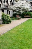 Garden in Gloucester Cathedral Royalty Free Stock Photos