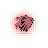 Garden gloves comics icon Royalty Free Stock Image