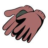 Garden gloves icon cartoon Stock Image