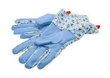 Garden Gloves isolated on white stock images