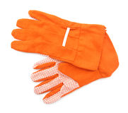 Garden gloves orange Royalty Free Stock Photo