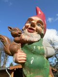 Garden gnome. Weathered garden gnome Royalty Free Stock Photos