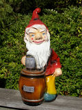 Garden gnome. Traditional European garden gnome purchased at border of Germany and Czech Republic Stock Photography