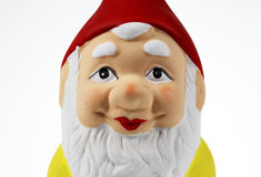 Garden gnome. Single garden gnome against a white background Royalty Free Stock Images