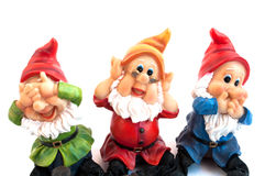 Garden gnome. On a white background Royalty Free Stock Photo
