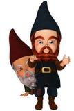 Garden Gnome. A cute Garden Gnome - isolated on white Stock Photography