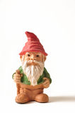 Garden Gnome. Isolated on white background Royalty Free Stock Photo