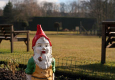 Garden Gnome. A garden gnome who's dirty after a hard days work in the garden Stock Photography