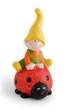 Garden Gnome. Friendly smiling Garden Gnome on white background stock photo