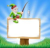 Garden gnome or elf sign Royalty Free Stock Image