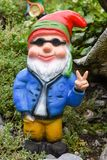Garden gnome in a garden of a house at Engelberg Royalty Free Stock Photography